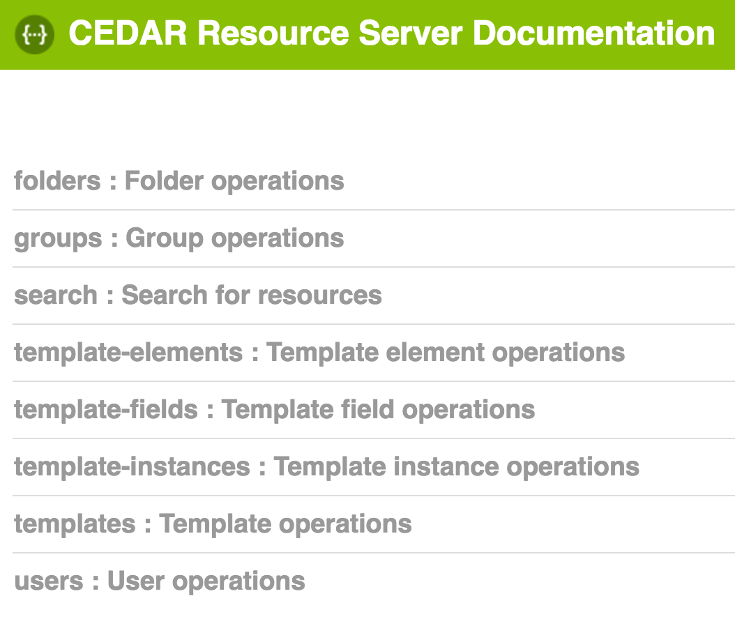 CEDAR APIs | CEDAR - Center for Expanded Data Annotation and Retrieval